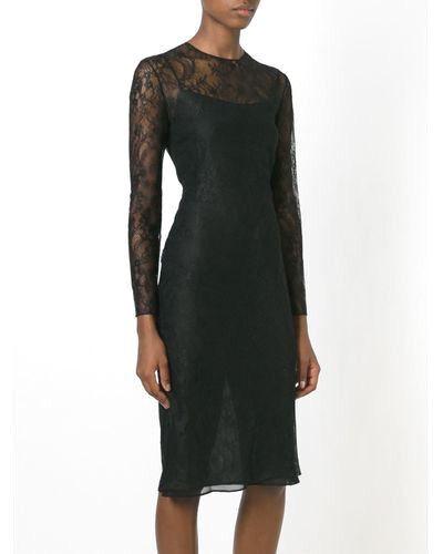 Vestido de Encaje Floral Ajustada GIVENCHY Negro <> tamaño  40 <> a estrenar  entrega rápida
