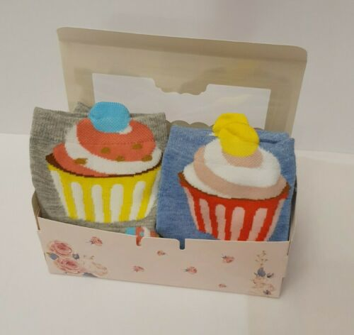 2x cup cake socks in each gift box,4 pairs Mothers day Gift 2 X Cup Cake Socks