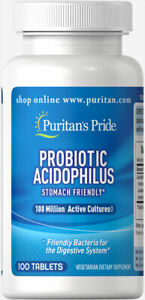 Puritan-039-s-Pride-Probiotic-Acidophilus-100-Million-Cultures-100-Tabs-free-ship