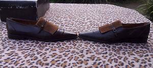 pelle 38 taglia U Scarpe Doux marrone Eu C vintage Pixie in fvaU0