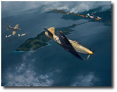 Action Over Salamaua by Jack Fellows - P-39D Airacobra - Aviation Art Prints