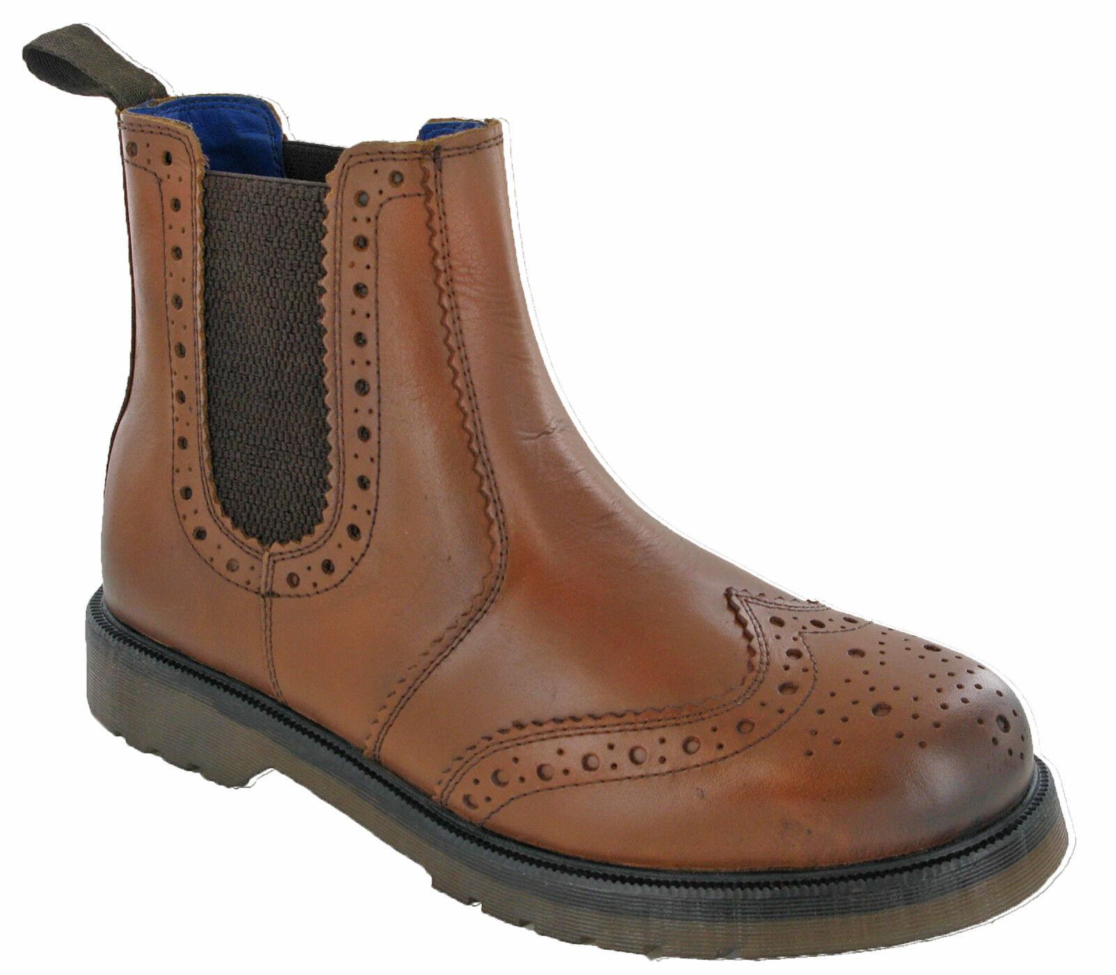 brown Zapato Oxford Distribuidor de Cuero Botines catesby Doble Costura