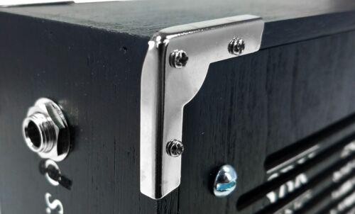 8pc Cigar Box Guitar Parts Low-Profile Nickel Box Corners with Screws