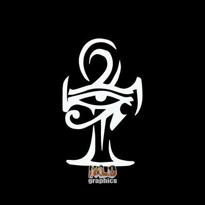 ANKH DAGGER vinyl Sticker Egypt Egyptian Polytheistic Kemetism Neterism