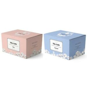 WHITE-RABBIT-Premium-Cotton-Pad-Plain-Type-Perforated-Type-2SET-Total-50pcs