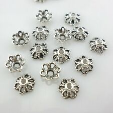 100//300pcs Tibetan Silver Flower End Bead Caps Crafts Jewelry Findings 6x3mm