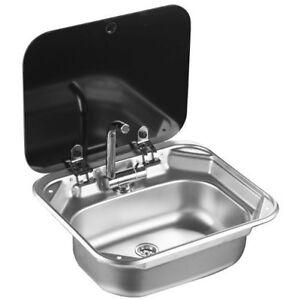 RV Caravan Camper Stainless Steel Hand Wash Basin Kitchen Sink with ...