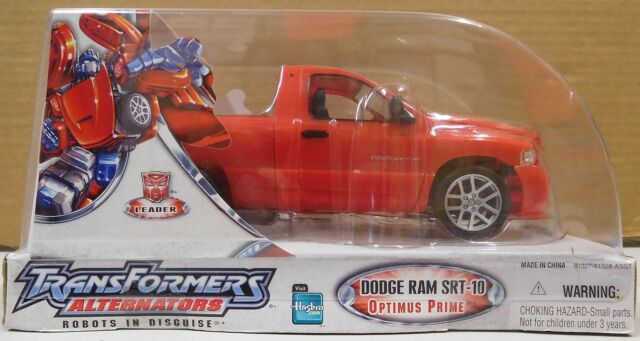 Transformers Alternators Dodge Ram SRT-10 Optimus Prime New Sealed