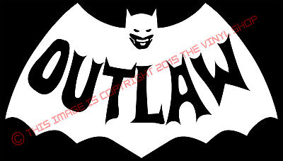 "X1 /""BATMAN RATROD/"" Funny cool vintage retro muscle car bat CUSTOM LOGO Rat Rod"