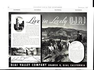 OJAI VALLEY CALIFORNIA-ADVERTISEMENT-COUNTRY LIFE & SPORTSMAN MAGAZINE 1937