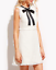 AU-seller-White-frayed-tweed-party-office-dress-with-bow-tie-details thumbnail 1