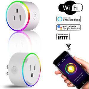 Smart-Socket-Wifi-Plug-Outlet-Timer-Light-Switch-Socket-Work-w-Alexa-Google-Home