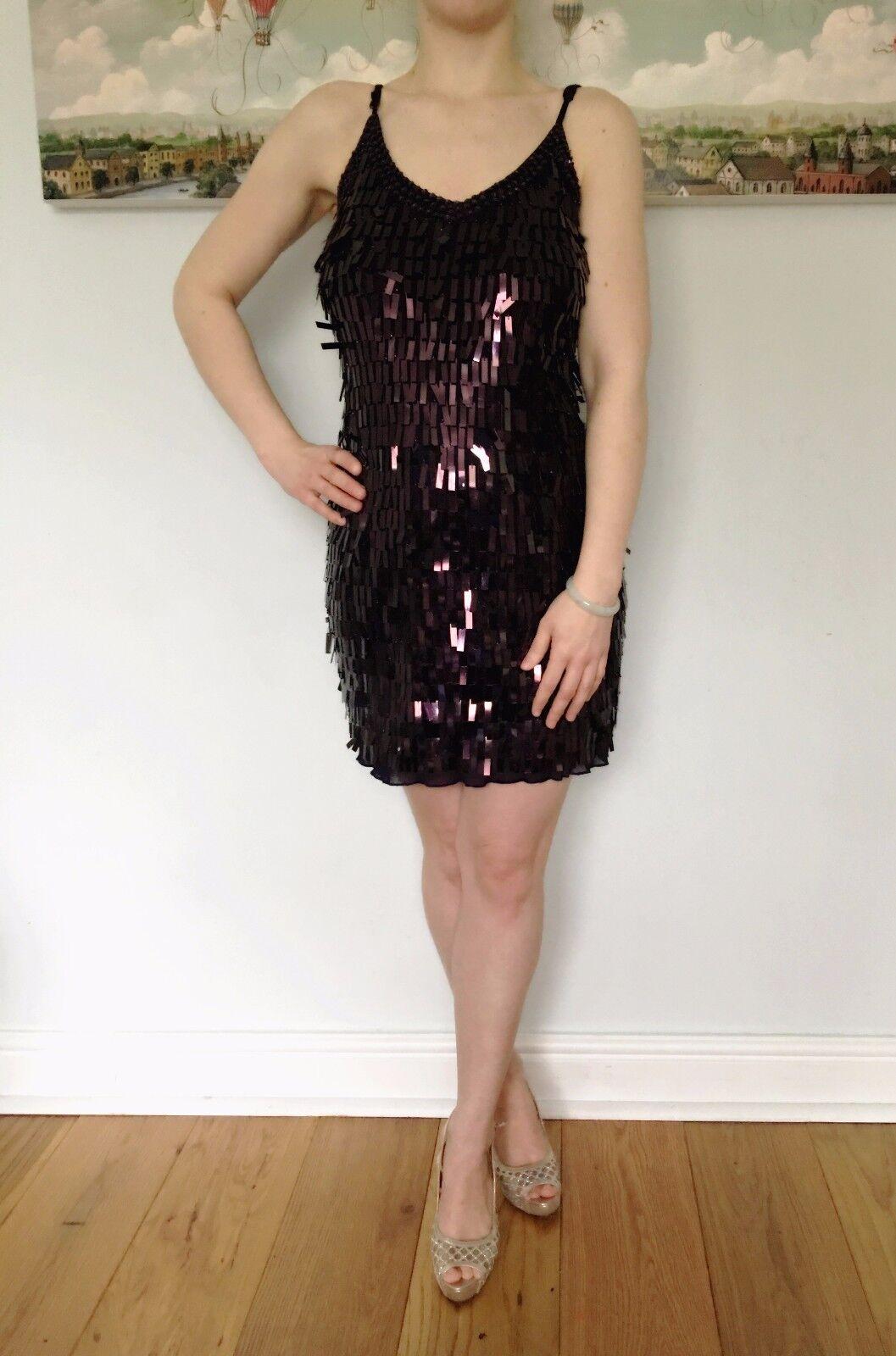 20's The Great Great Great Gasby style wunderschön Damen Damen lila metallisch Kurzes Kleid   Sale Online    Fierce Kaufen    Erschwinglich    Guter Markt      82ef6b