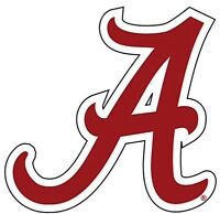 University Of Alabama Crimson Tide Large Logo A Decal