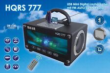 Boombox USB Radio LED Lichtorgel, FM Auto Scan & SD Karten Anschluss