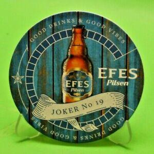 Turkish Turkey Coaster Beer RARE EFES PILSEN JOKER 5 WHITE
