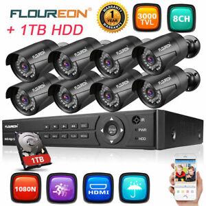 FLOUREON-8CH-1080N-HD-DVR-Kit-3000TVL-1080P-2MP-Home-Security-Camera-System-1TB
