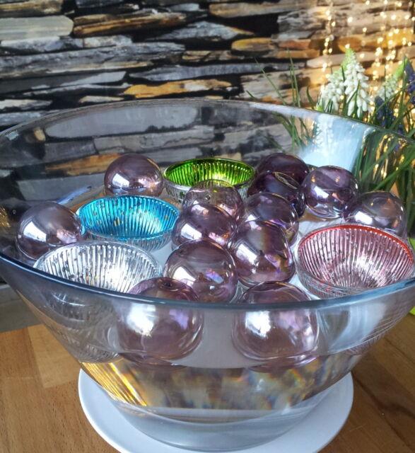 Massiv Glas Schwimmkerzenhalter Antik Schwimmkerzen Schwimmschalen Schwimmschale