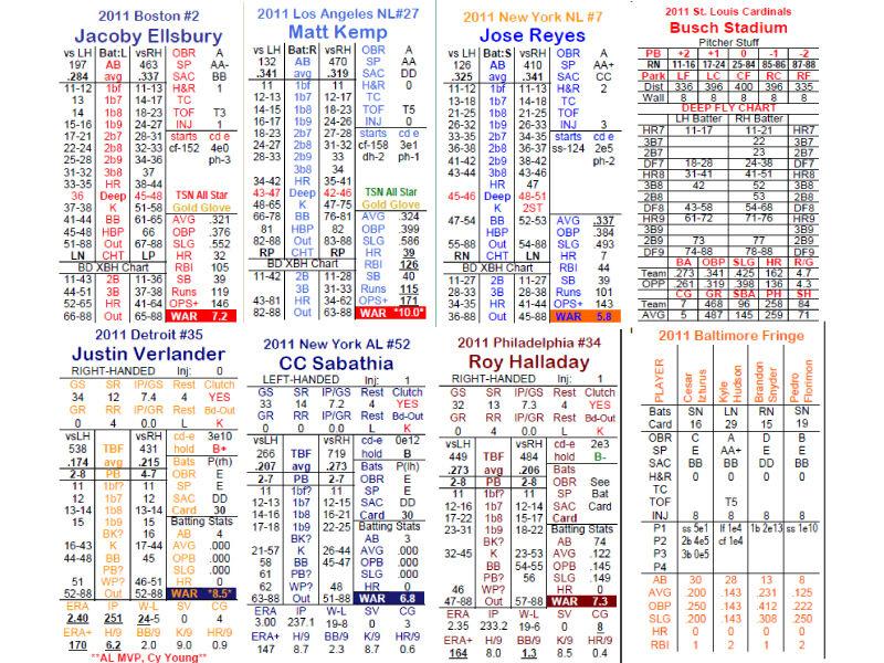 2012 Statis Pro Baseball Advanced PRINTED