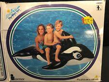 "Vintage Inflatable Intex Whale Ride On 84"" X 43"" Wet Set Pool Float NIB 1996"