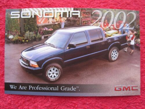 2002 GMC SONOMA FACTORY FEATURES INFO CARD
