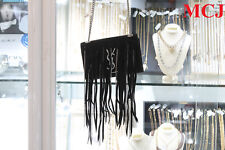 9ca77f24f3 item 3 New - YSL Saint Laurent Black Monogram Chain Fringe Small Crossbody  Bag -New - YSL Saint Laurent Black Monogram Chain Fringe Small Crossbody Bag
