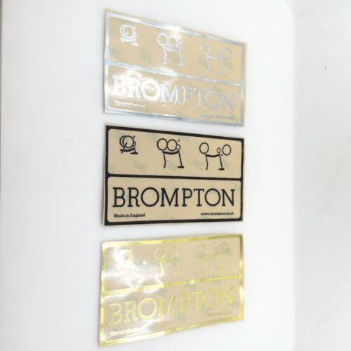 En métal Mark étiquettes badge 2013 Emblème Autocollant autocollants pour vélo Brompton portique