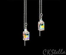 *CKstella*  Sterling Silver Thread Threader w/ Swarovski Aurora Borealis Cube