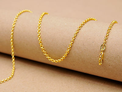 1PCS Fashion Jewelry 18K Yellow Gold Filled Chains Pearl Cross GF Necklaces