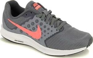 c894764f134c1 NIKE Downshifter 7 Women s Running Shoes Gray+Pink Casual Athletic ...