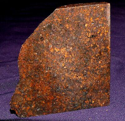 Endstück Stein-meteorit Jah 055, Heilstein, 46x45x15mm 58,6g Oman 陨石 PüNktliches Timing