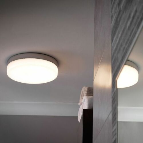 Sensio Hudson Plana Redonda Grande Luz De Techo LED Blanco Cálido 300mm Nuevo En Caja