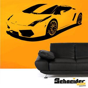 Lamborghini Gallardo Wandtattoo Wandaufkleber Sticker Supersportwagen Deko Ebay