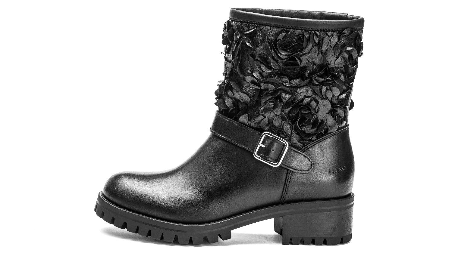 schuhe FRAU Damens TRONCHETTO IN PELLE 85M2 NERO MADE IN ITALY BOOTS