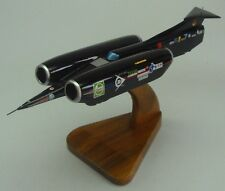 Thrust SSC Supersonic Car Mahogany Desktop Wood Model Big New