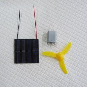 Solar Powered Motor And 3 Wheel Fan Educational Kit Ebay