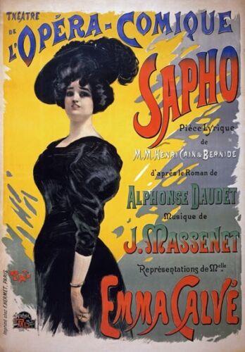 AV66 Vintage French Sapho Theatre de l'Opera Advertisement Poster A1//A2//A3//A4