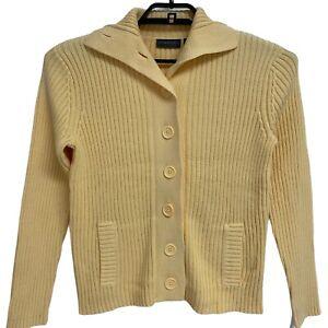 Femmes Cardigan en coton à manches longues Bouton Tricot Knit Taille Neuf Filles Femme