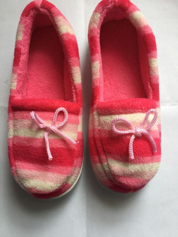 Donna Confortevole Pantofole Morbide In Spugna Rosso Uk 7