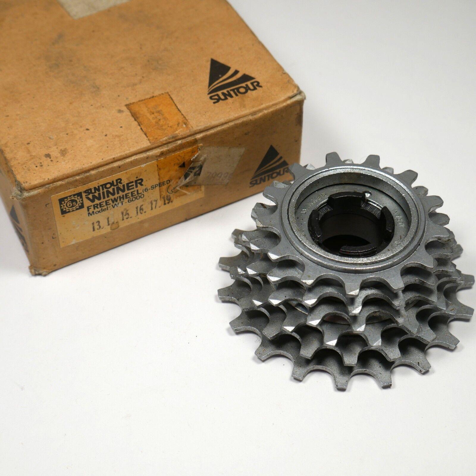 NOS in Box Suntour Winner WT-6000 Standard 6 Speed Freewheel, 13-19T 1988.
