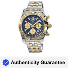 New Breitling Chronomat 44 Blue Dial 18kt Rose Gold Men's Watch CB0110121C1C1