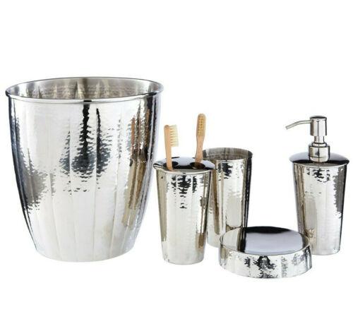 Bathroom Basin Accessories Nickel Soap Dish Dispenser Toothbrush Holder Waste