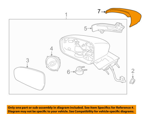 FORD OEM Fusion Door Side Rear View-Mirror Cover Cap Trim Right DS7Z17D742BAPTM