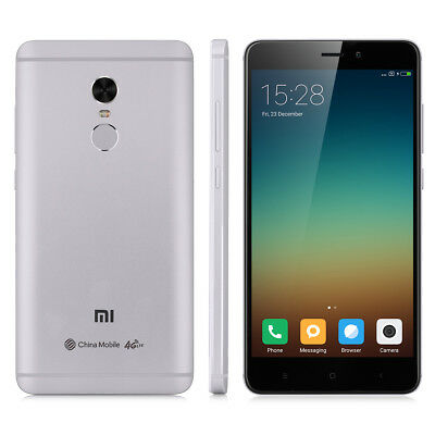 5.5'' Xiaomi Redmi Note 4 4G Smartphone Android 6.0 DecaCore 3GB+64GB Móvil 13MP