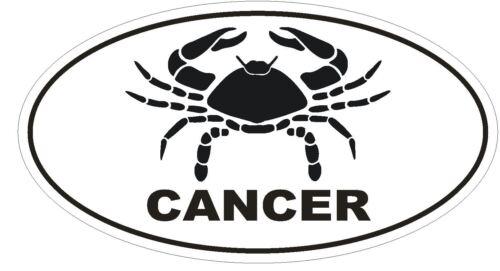CANCER Oval Bumper Sticker or Helmet Sticker D1871 Euro Oval Zodiac Horoscope