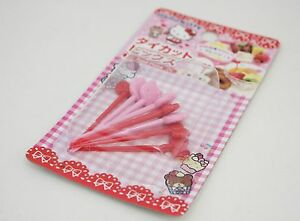 Hello-Kitty-Food-Picks-8pcs-Sanrio-Kawaii-Free-Shipping