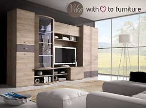 Image Is Loading Living Room Furniture TV Wall Unit GRENADA Wardrobe