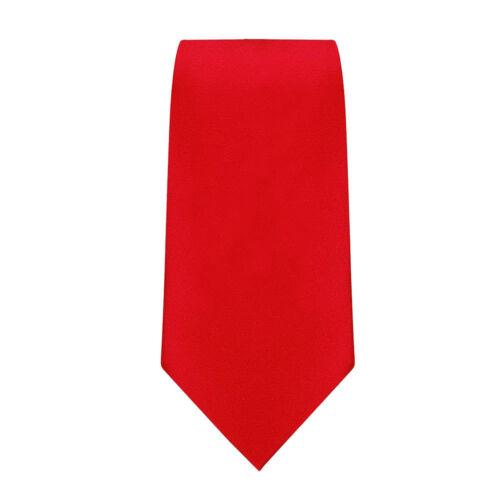 Zeco da Uomo Ragazzi School Uniform CRAVATTE Formale Nero Blu Scuro Royal Rosso BOTTIGLIA BORDEAUX