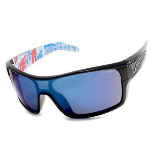 19af865684 Arnette AN4186-06 220055 Shore House Gloss Black Blue Mirror Shield ...