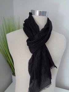 0802169c4c2a BNWT Hugo Boss Callorio Black Lightweight Cotton Modal Scarf   eBay